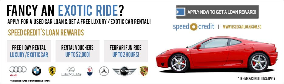 Get a free luxury or exotic car rental for your used car loan application